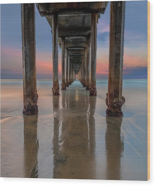 Iconic Scripps Pier Wood Print