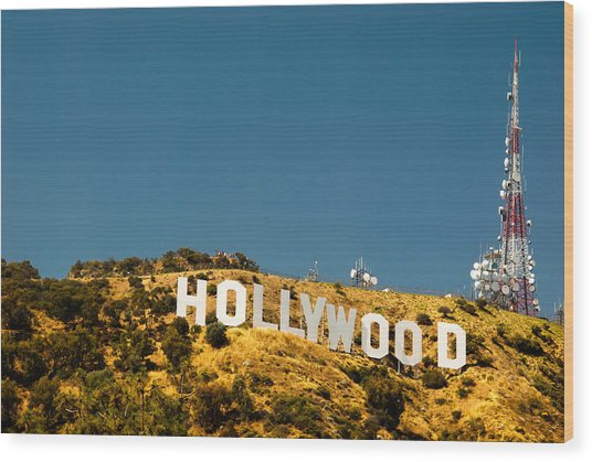 Iconic Shot - Beachwood Canyon Wood Print
