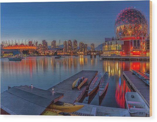 Iconic Vancouver Wood Print