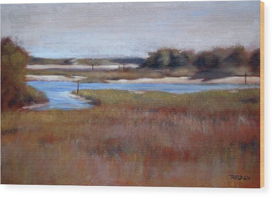 Icw Looking Toward Masonboro Wood Print