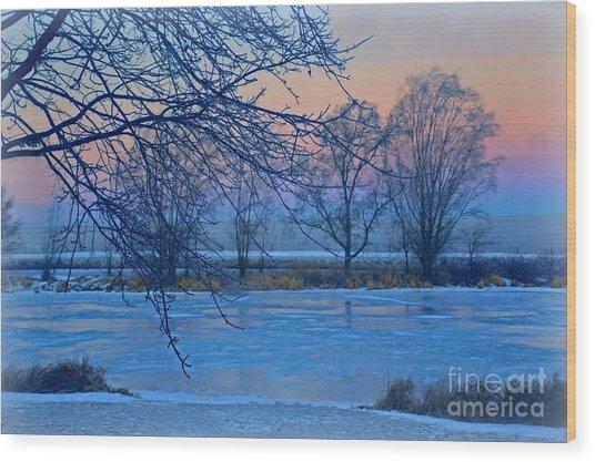 Icy Beauty Wood Print
