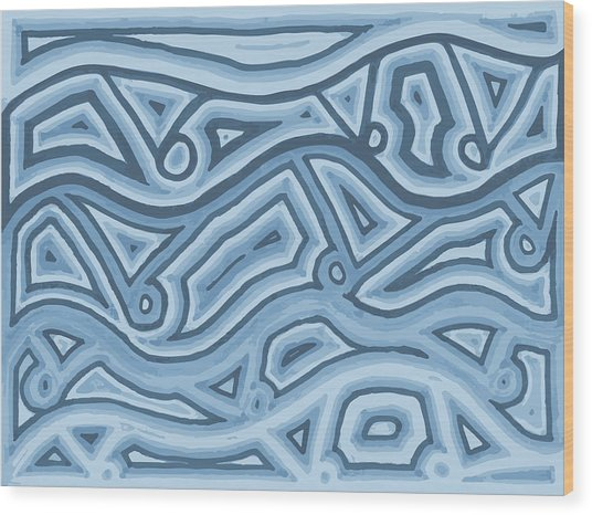 Icy Layers Wood Print