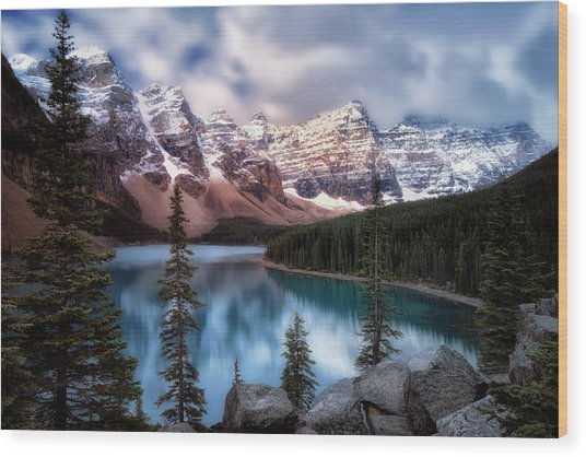 Icy Stillness Wood Print