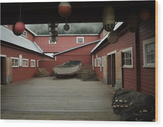 Icy Strait Point Cannery Museum Wood Print