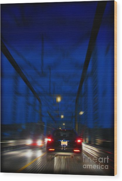 I'd Drive All Night Wood Print by Colleen Kammerer