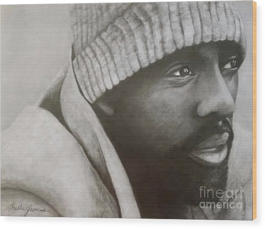 Idris Elba Wood Print by Lorelle Gromus