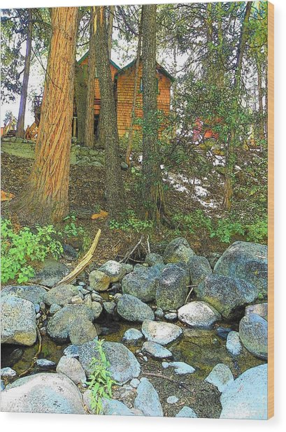 Idyllwild - Houses On The Hill Wood Print