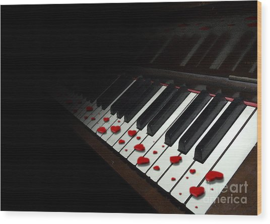 If Music Be The Food Of Love... Play On Wood Print