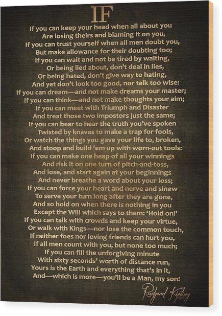 If Poem Vintage Canvas Wood Print
