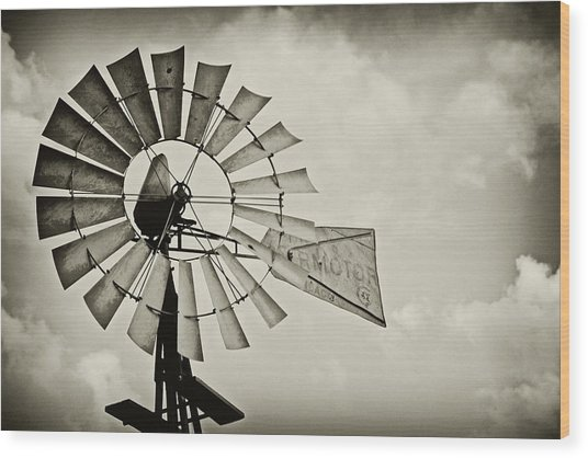 If Windmills Could Talk Wood Print
