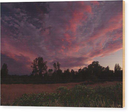 Igo Sunset Wood Print