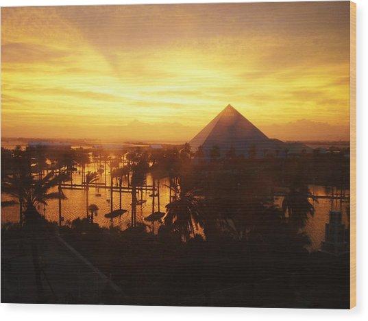 Ike Sunset Wood Print