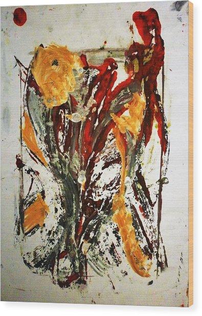 Ikebana Wood Print by Hugo Razlerfight