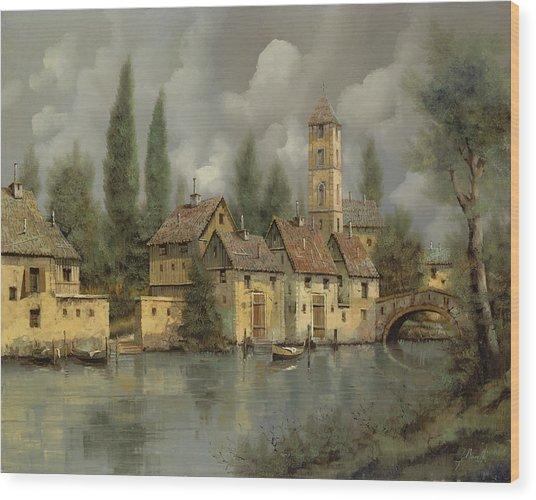 Il Borgo Sul Fiume Wood Print