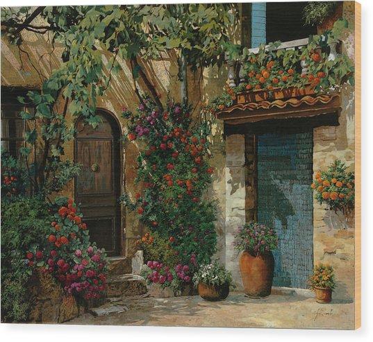 Il Giardino Francese Wood Print