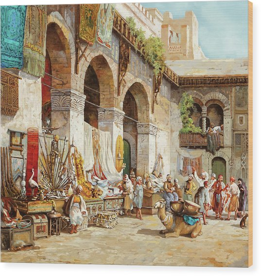 Il Mercato Arabo Wood Print