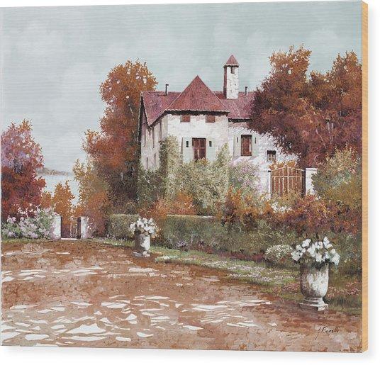 Il Palazzo In Autunno Wood Print