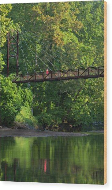 Ilchester-patterson Swinging Bridge Wood Print