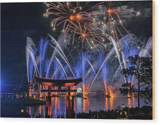 Illuminations 2 - Epcot Center At Disney World Orlando Florida Wood Print