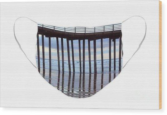Illusion Of Ocean Movement Wood Print