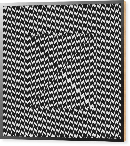 Illusion Exemplified Wood Print