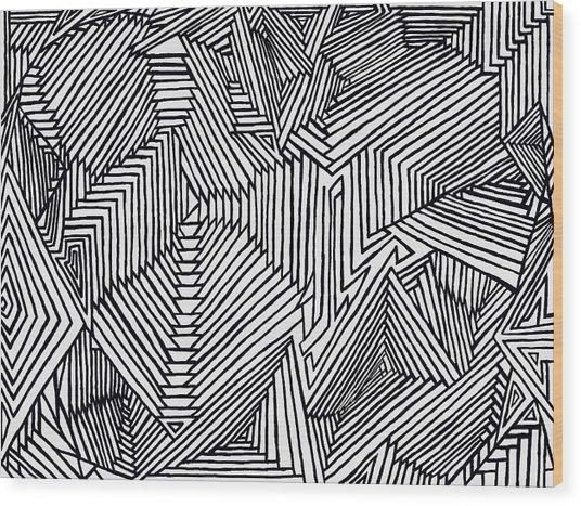 Illusions New Wood Print