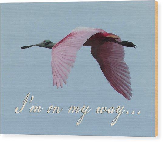 I'm On My Way Wood Print by Mary Elizabeth Thompson