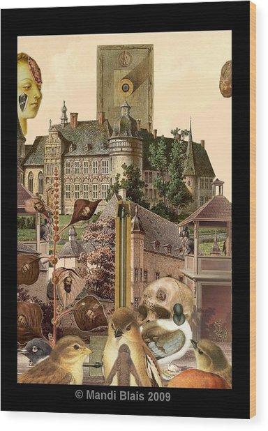 Imaginary Postcard  3 Wood Print by Mandi Blais