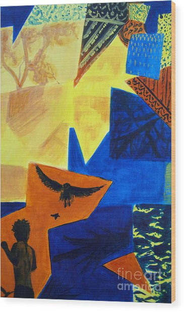 Wood Print featuring the painting Imagination by Maria Langgle