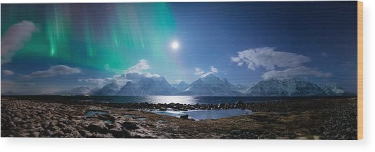 Imagine Auroras Wood Print