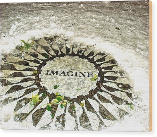 Imagine Wood Print