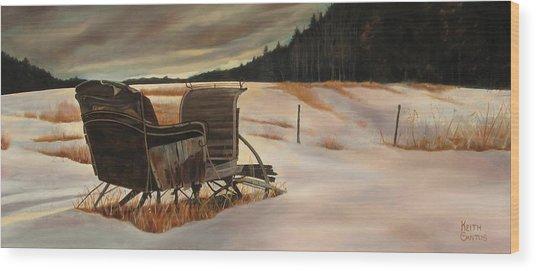 Imaginery Sleigh Ride Wood Print