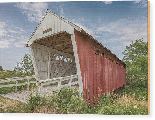 Imes Covered Bridge Wood Print