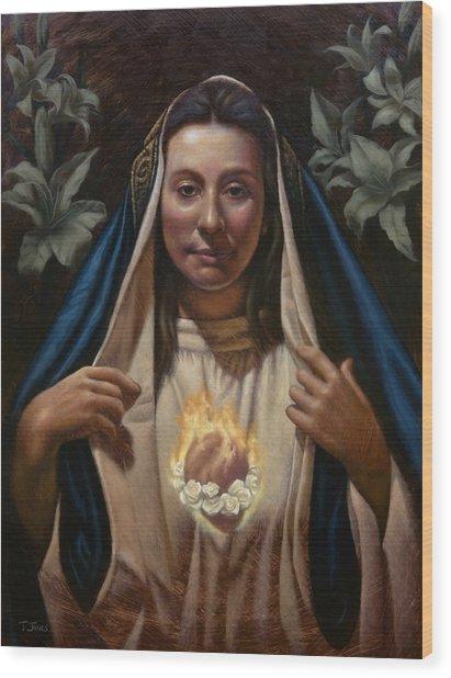 Immaculate Heart Wood Print