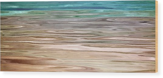 Immersed - Abstract Art Wood Print