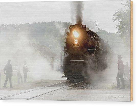 Immersed In Steam Wood Print
