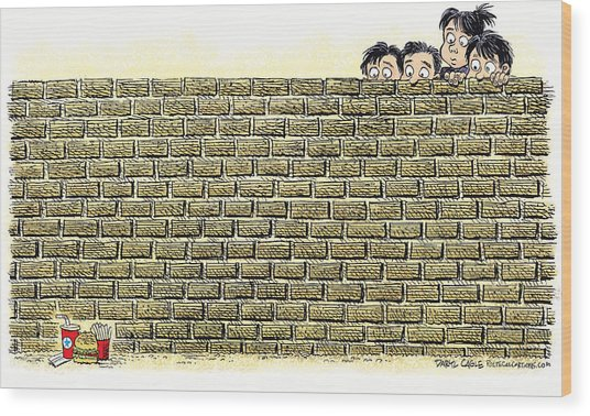 Immigrant Kids At The Border Wood Print