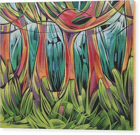 Impassable Forest  Wood Print