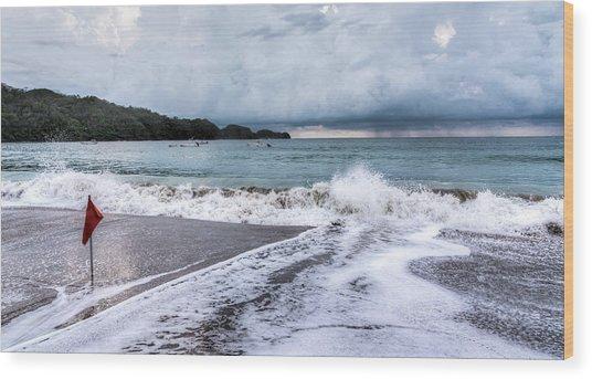 Impending Storm  Wood Print by Michael Santos