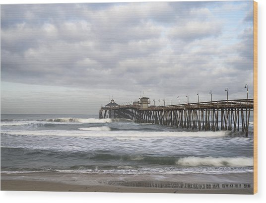 Imperial Beach Pier Wood Print