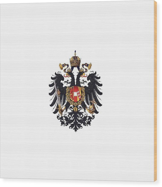 Imperial Coat Of Arms Of The Empire Of Austria-hungary 1815 Transparent Wood Print