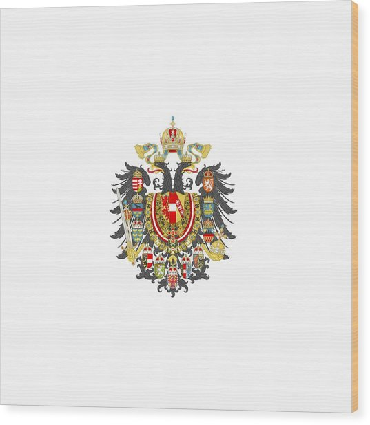 Imperial Coat Of Arms Of The Empire Of Austria-hungary Transparent Wood Print