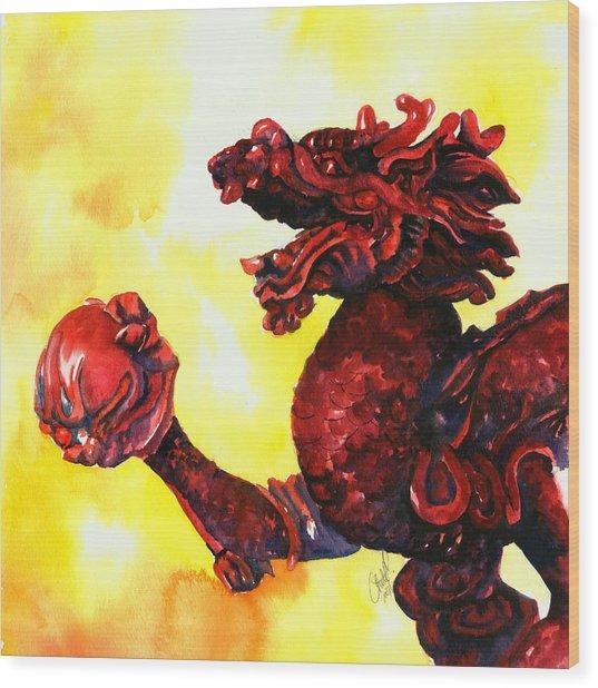Imperial Dragon Wood Print