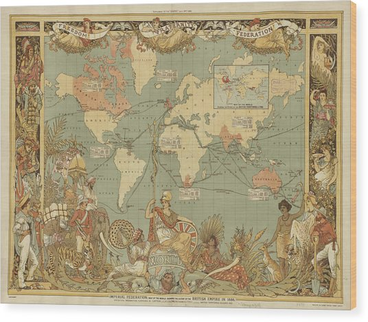 Imperial Map Wood Print