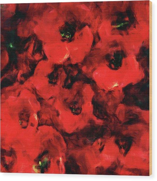 Impression Of Poppies Wood Print