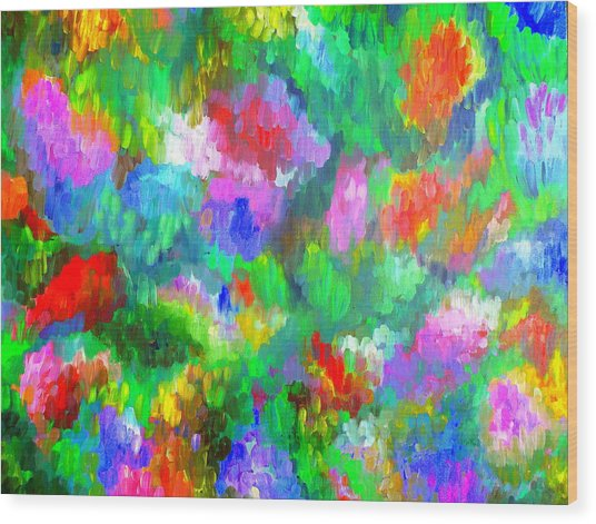 Impressionistic Garden Wood Print