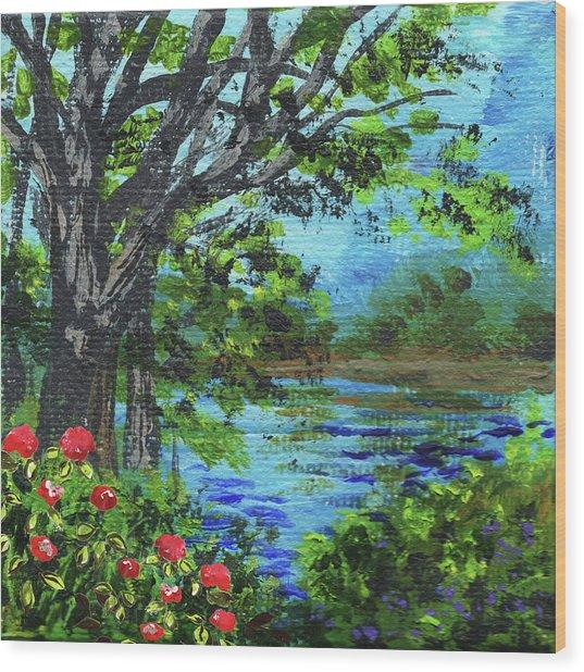 Impressionistic Landscape Iv Wood Print