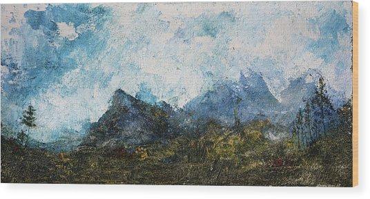 Impressionistic Landscape Wood Print