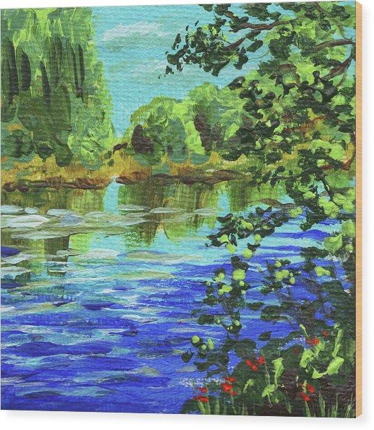 Impressionistic Landscape V Wood Print