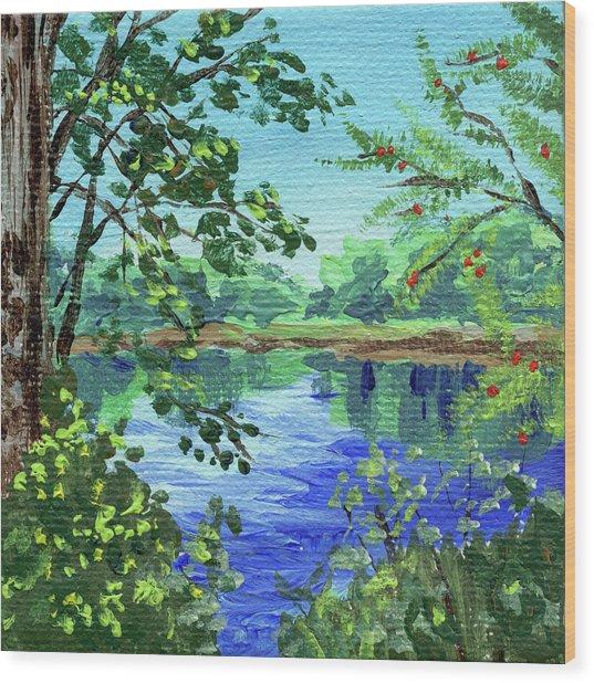 Impressionistic Landscape Xiv Wood Print